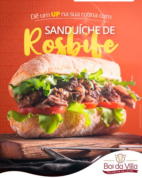 Saia da rotina: Sanduíche de Rosbife!