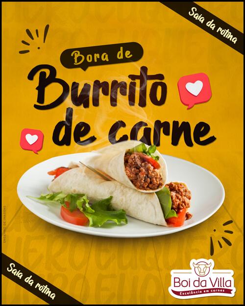 Saia da rotina: Burrito de carne moída!