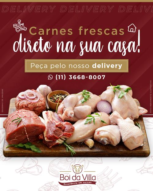 Carnes frescas direto na sua casa!