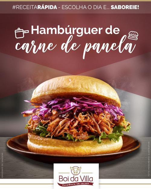 Receita rápida: hambúrguer de panela